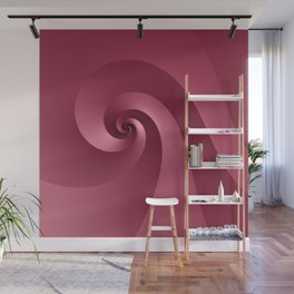 Rose-colored Wave Wall Mural