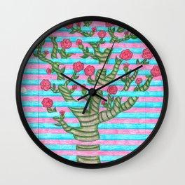 Notebook Flower Tree Wall Clock