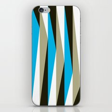 Blue Geometric Triangle Pattern iPhone & iPod Skin