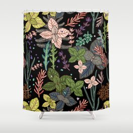 mysterious herbs Shower Curtain