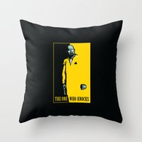 scarface Throw Pillows featuring The One Who Knocks by WinterArtwork