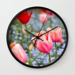 Keukenhof Tulips - Amsterdam Wall Clock