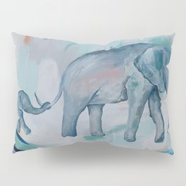 Mother and Baby Elephant Pillow Sham