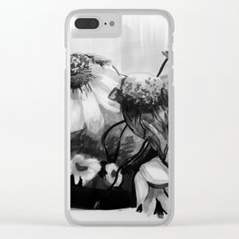 Wild Daisies Clear iPhone Case