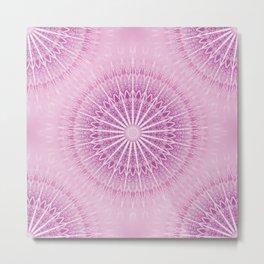 Pink Mandala Geometric Metal Print