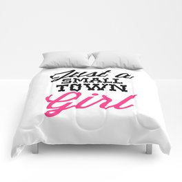 Small Town Girl Music Quote Comforters
