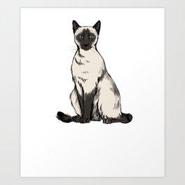 Siamese Cat Shirt - Gift For Cat Lovers Art Print