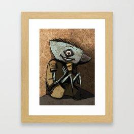Anvil head eat french fries in the corner. Framed Art Print