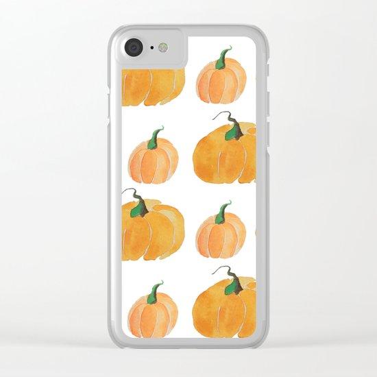 Pumpkin Patch Clear iPhone Case