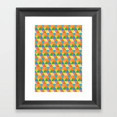 3-Point Pattern Framed Art Print