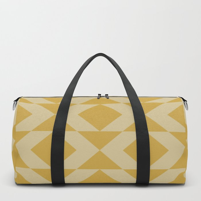 Geometrical Pattern in Ochre Duffle Bag