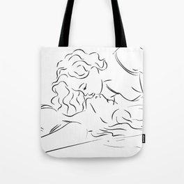 Minas - Minimal Female kiss Tote Bag
