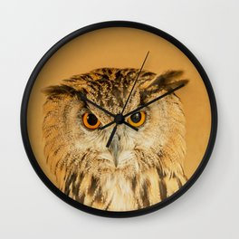 OWL RIGHT ON THE NIGHT Wall Clock