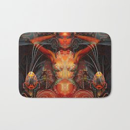 Triptych: Shakti - Red Goddess Bath Mat