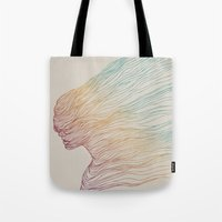 gradient Tote Bags featuring FADE by Huebucket
