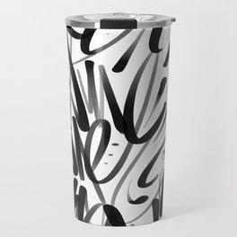 Script Graffiti Travel Mug