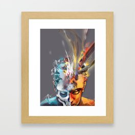 2 S1des Framed Art Print