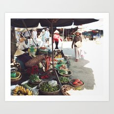 Fruit Market, Hoi An.  Art Print