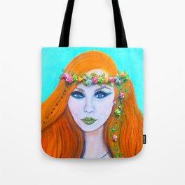 Redhead Poison Ivy Goddess Tote Bag