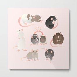 rats redux Metal Print