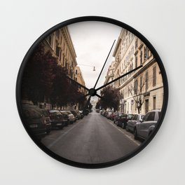 street in italy Wall Clock