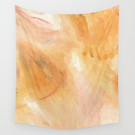 Citrine Crystal Watercolor Wall Tapestry