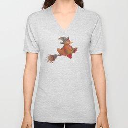 Snozzleberry Duck Witch Unisex V-Neck