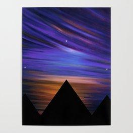 ESCAPE - Pyramids Silhouette Poster