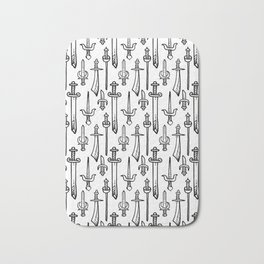Swords & Daggers Pattern Bath Mat