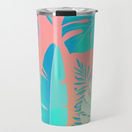 Tropics ( monstera and banana leaf pattern ) Travel Mug