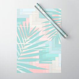 Summer Mood with Chevron and Palms Wrapping Paper