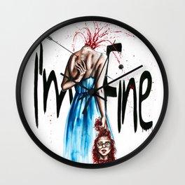 I´ m fine Wall Clock