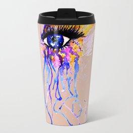 Flamy Watercolor Eye Travel Mug