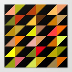 Autumn Triangles Canvas Print