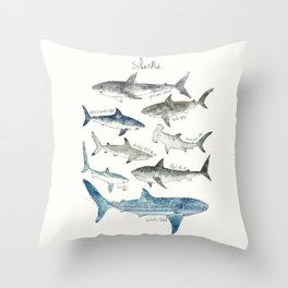 Sharks Throw Pillow