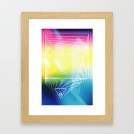 quadrat dreieck kreis zwei Framed Art Print