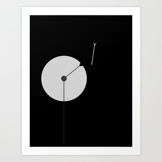 Dandelion at Night Art Print