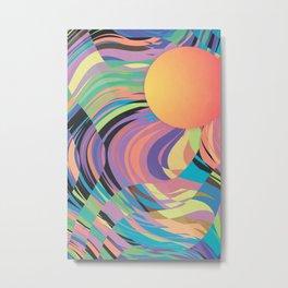 Magnetic Storm Metal Print