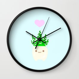 LOVE haworthia Wall Clock