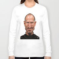 steve jobs Long Sleeve T-shirts featuring Celebrity Sunday ~ Steve Jobs by rob art | illustration