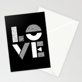 Love black and white contemporary minimalist typography design home wall decor bedroom Stationery Cards