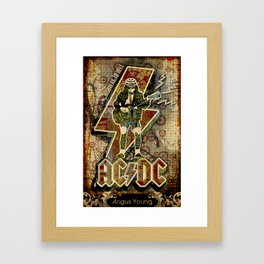 AC/DC angus young Framed Art Print