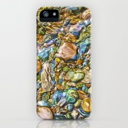 Baptism River Rocks iPhone Case