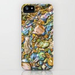 Baptism River Rocks iPhone Case