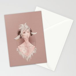 Curly horns Stationery Cards