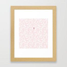Sneaky Red Sock Framed Art Print