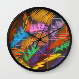 Neon Retro Night Wall Clock