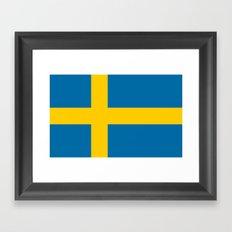 Flag of Sweden - Authentic (High Quality Image) Framed Art Print
