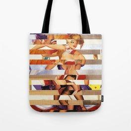 Glitch Pin-Up Redux: Amber Tote Bag