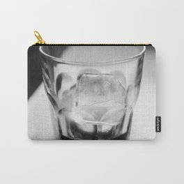 Timeless | Modern abstract black white coffee ice photography Carry-All Pouch